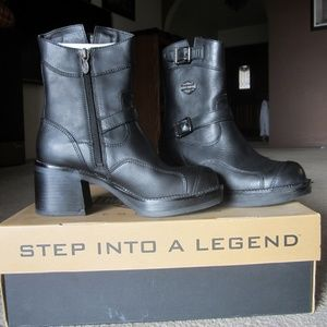 Women's  Leather Biker Boots